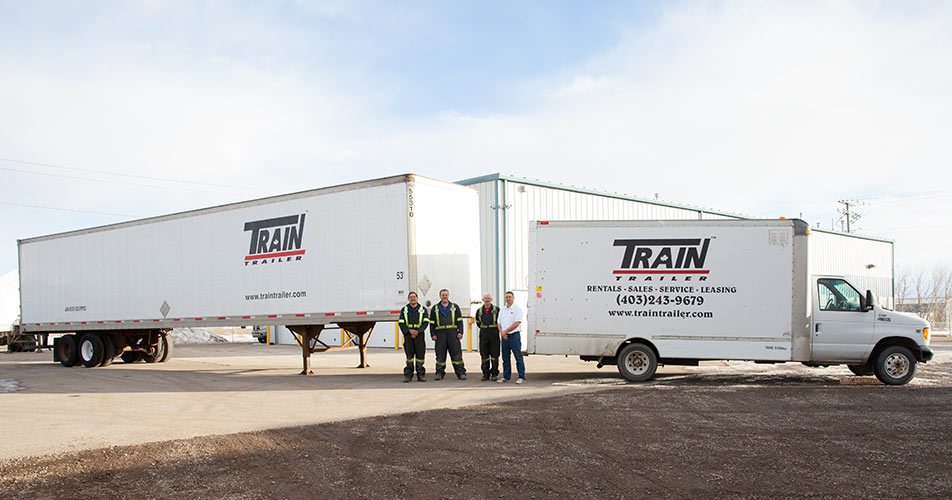 Train Trailer - Calgary transport trailer rental company